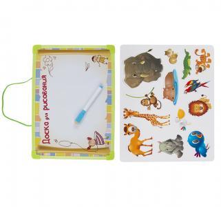 Доска магнитная  с магнитными наклеками и предм. для рис Donkey toys