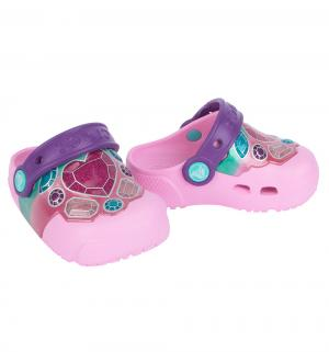 Сабо  Fun Lab Lights Gems/Carnation, цвет: розовый Crocs