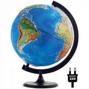 Глобус физико-политический рельефный 32 см с подсветкой Глобусный мир