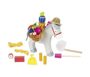 Деревянная игрушка  Игра Нагрузи ослика Goki