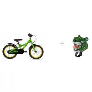 Велосипед двухколесный  XXlite 16 steel и звонок Tiger Crazy Safety Scool