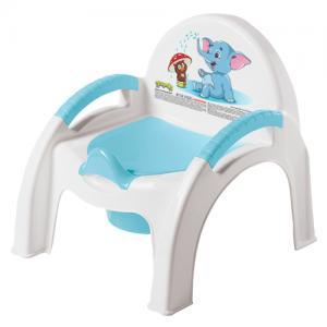 Горшок-стульчик , цвет: голубой Бытпласт