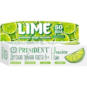 Зубная паста President Junior Лайм, от 6 лет, 50 мл