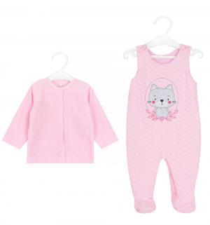 Комплект джемпер/полукомбинезон  Psotka, цвет: розовый Koala
