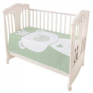 Одеяло Ермошка байковое премиум Омела мишка 140x100 см Ермолино