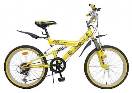 Детский велосипед  Boxer, цвет: желтый/черный Top Gear