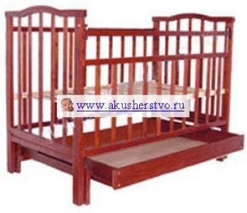 Детская кроватка  Золушка-4 маятник поперечный с ящиком Агат