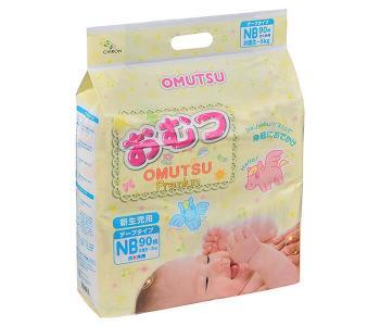 Подгузники детские NB (0-5 кг) 90 шт. Omutsu