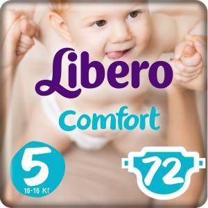 Подгузники  Comfort Maxi 5 (10-16 кг) 72 шт. Libero