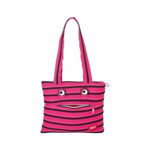 Сумка Monster Tote/Beach Bag, цвет розовый/черный Zipit
