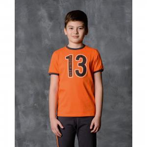 Футболка для мальчика Modniy Juk. Цвет: оранжевый