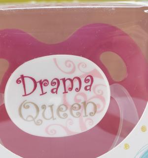 Пустышка  Dental BasicCare Drama Queen/Bad Boy силикон, с 16 мес Bibi