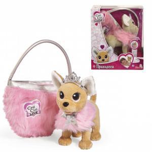 Интерактивная игрушка  Плюшевая собачка Принцесса с пушистой сумкой, 20 см Chi-Chi Love