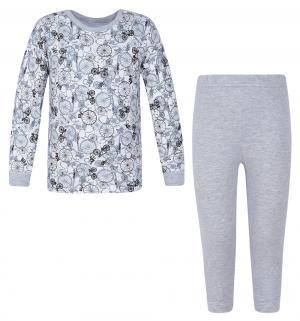 Пижама джемпер/бриджи  Bike, цвет: серый Makoma