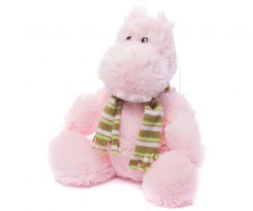 Мягкая игрушка  Бегемотик в шарфе 28 см Нижегородская