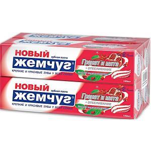 Зубная паста Новый Жемчуг Гранат и мята отбеливание, 100 мл, 4 шт Невская косметика