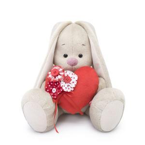 Мягкая игрушка  Город Зайка Ми с красным сердечком 18 см Budi Basa