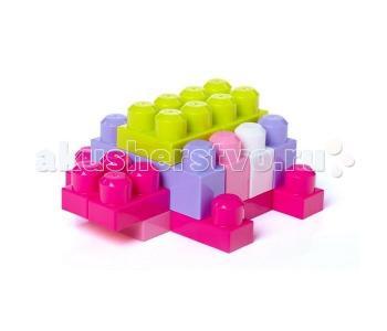 Конструктор  First Builders Big Building Bag для девочек 60 деталей Mega Bloks