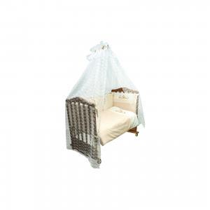 Комплект в кроватку 7 предметов , Кантри, бежевый Сонный гномик