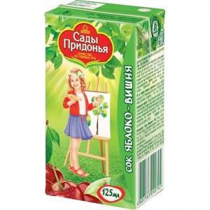 Сок  яблоко-вишня, 125 мл Сады Придонья
