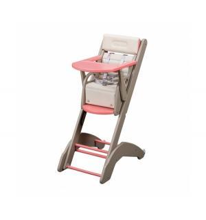 Стульчик для кормления  Evo Twenty-One, цвет: серый с розовым Combelle