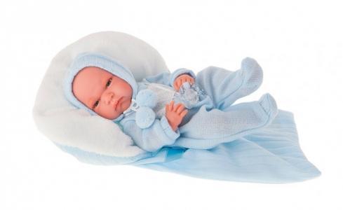 Кукла-младенец Диана в голубом 33 см Munecas Antonio Juan