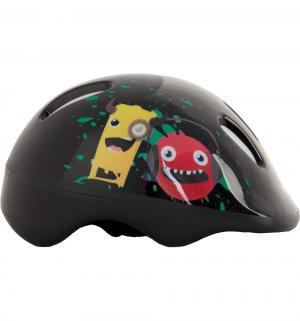 Шлем роликовый  Monsters, цвет: черный/желтый/красный Larsen