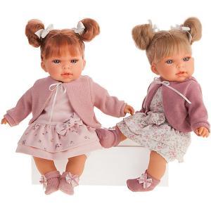 Кукла  Альма в розовом, озвученная, 37 см Munecas Antonio Juan. Цвет: розовый