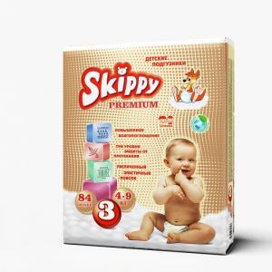 Подгузники Premium р. 3 (4-9 кг) 84 шт. Skippy