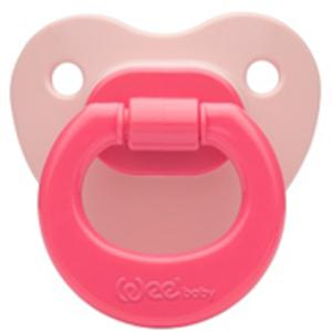 Соска-пустышка Weebaby ортодонтическая матовая, от 6 мес., розовая