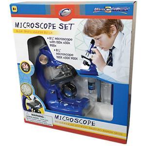 Микроскоп , 36 предметов, синий Eastcolight