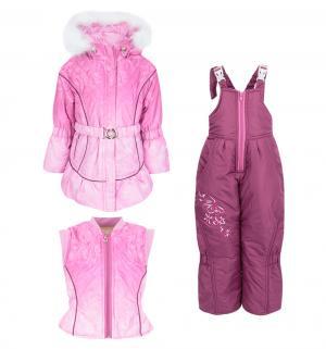 Комплект куртка/жилет/полукомбинезон  Инна, цвет: розовый Alex Junis