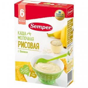 Каша  молочная рисовая с бананом 6 месяцев 200 г Semper