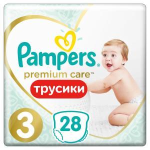 Трусики-подгузники  Premium Care Pants, р. 3, 6-11 кг, 28 шт Pampers