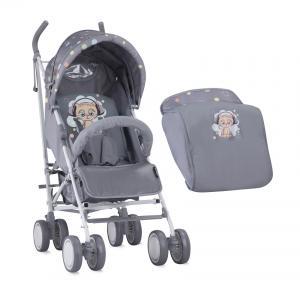 Прогулочная коляска  Fiesta с накидкой на ножки, цвет: grey cute kitten Lorelli
