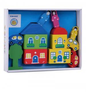 Деревянный конструктор  Цветной городок-6 синий Томик