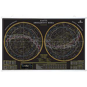 Карта Звездное небо 156х101 на рейках Издательство Ди Эм Би