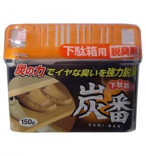 Дезодорант-поглотитель неприятных запахов для обувных шкафов С древесным углем, 150 гр Kokubo