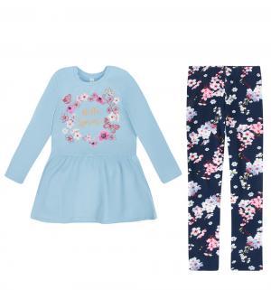 Комплект платье/леггинсы  Male, цвет: голубой/синий Acoola
