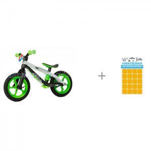 Беговел  BMXie-RS и Набор наклеек световозвращающих Квадрат 100 х 85 мм Sport Chillafish