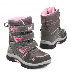 Ботинки , цвет: розовый/серый Twins