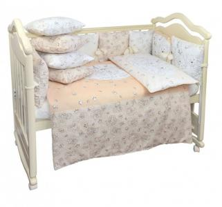 Комплект в кроватку  Мишки облаках (6 предметов) Labeille