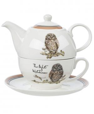 Чашка (220 мл) с блюдцем и чайник (400 Churchill