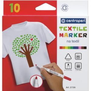 Набор маркеров для ткани Textil Marker 1.8 мм 10 цветов Centropen
