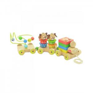 Деревянная игрушка  Паровозик Чух-чух № 1 Мир деревянных игрушек