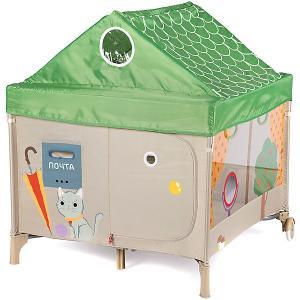 Манеж  Alex Home бежево-зелёный Happy Baby. Цвет: зеленый