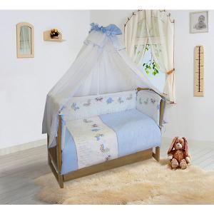 Бортик в кроватку  Ласковое лето голубой, на молниях Soni Kids. Цвет: голубой