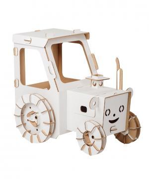 Игрушка Картонный трактор папа