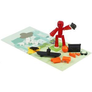 Фигурка  с аксессуарами красный Stikbot