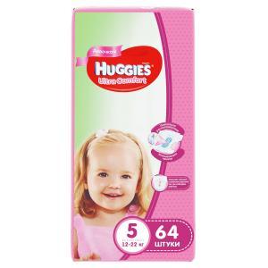 Подгузники  Ultra Comfort 5 для девочек (12-22 кг) 64 шт. Huggies
